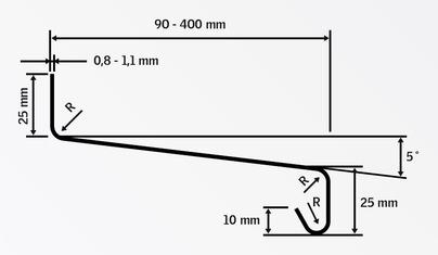 parapety Al - 0,8 mm