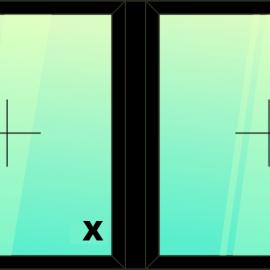 okno dvoj. / F - F /