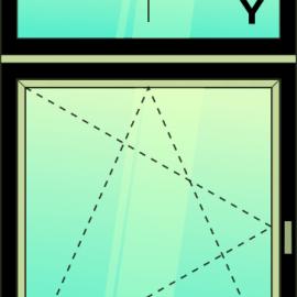 okno zvis.dvoj. / F - OS /