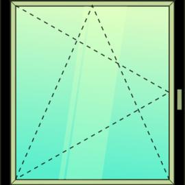 okno jednokrídlové / OS /
