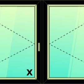 okno dvoj. / O - O /