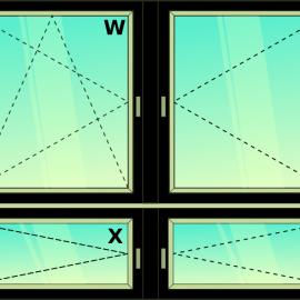 okno zvis.štvor. / OS-O-O-O /