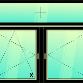 okno zvis.troj./ F - OS - O /